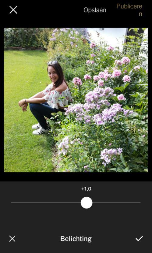 Instagram foto's bewerken in VSCO app