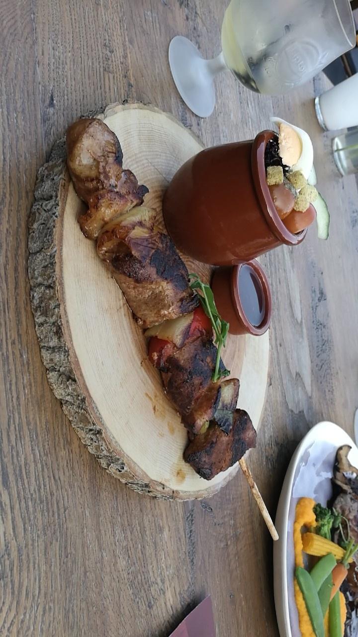 Spies van longhaas en groente van restaurant @thePark in Lunteren
