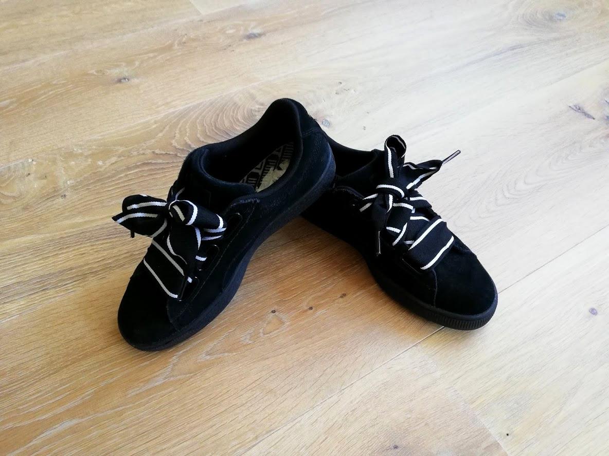 Puma schoenen met linten als veters